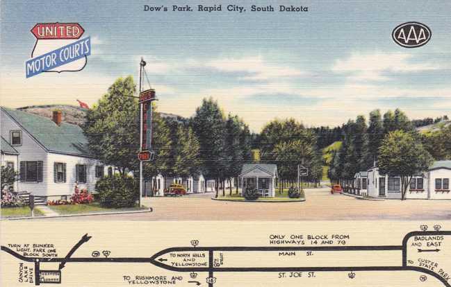 Playle 39 S Dow 39 S Park Motor Court Motel Rapid City South