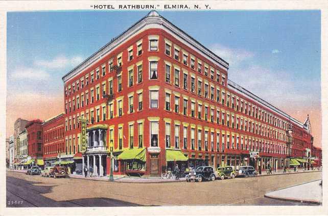 Hotel Rathburn - Elmira, New York - White Border