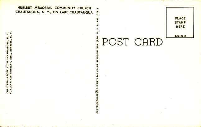 Hurlbut Memorial Community Church - Chautauqua, New York