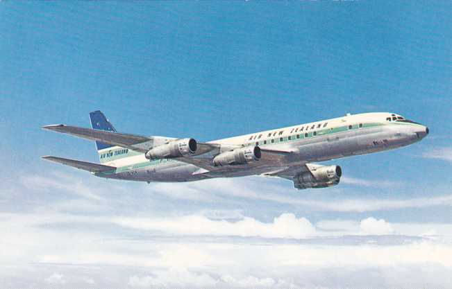 Air New Zealand Douglas DC-8 Jetliner
