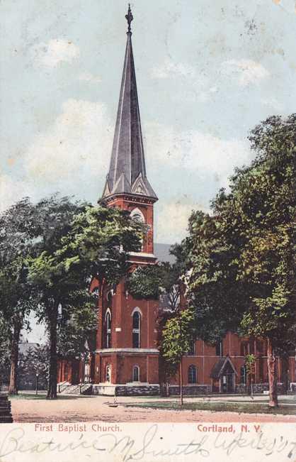 First Baptist Church - Cortland, New York - Undivided Back