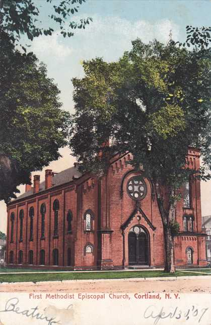 First Methodist Episcopal Church - Cortland, New York - Undivided Back