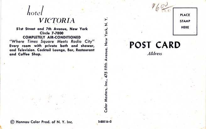 Hotel Victoria at Radio City - New York City