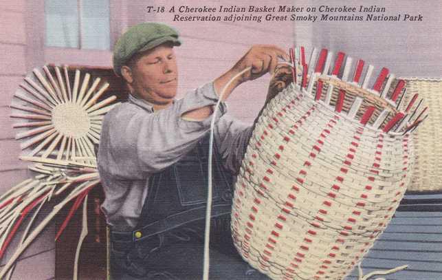 Basket Weaving North Carolina : Playle s cherokee indian basket weaving qualla