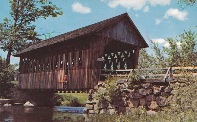 Covered Bridge over Blackwater River, New Hampshire