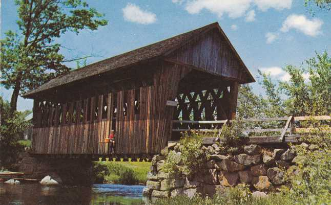A Covered Bridge at Blackwater River, New Hampshire