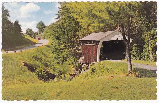 Smallest Covered Bridge near Drewsville, New Hampshire
