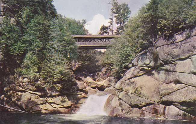 Sentinel Pine Covered Bridge - Franconia Notch, New Hampshire