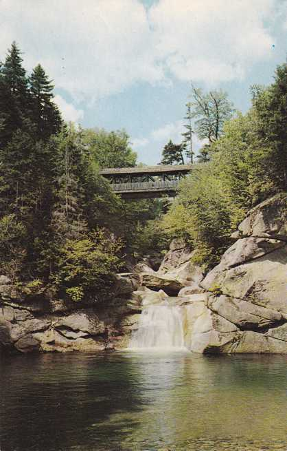 Franconia Notch, White Mountains, New Hampshire - Sentinel Pine Covered Bridge