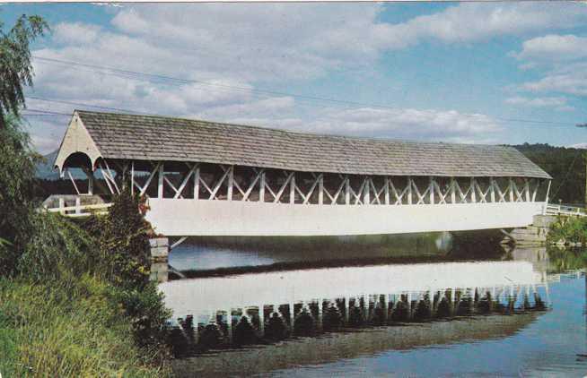 Groveton, New Hampshire - Covered Bridge - pm 1966 at Colebrook