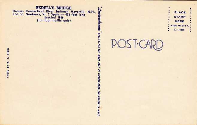 Bedell's Covered Bridge in Winter - Haverhill, New Hampshire