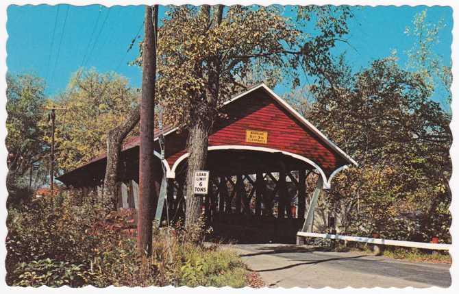 Covered Bridge over Israel River - Lancaster, New Hampshire