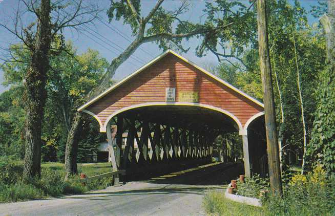 Lancaster, New Hampshire - Entrance to Covered Bridge