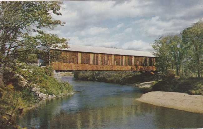 Smith Covered Bridge over Baker River - Plymouth, New Hampshire