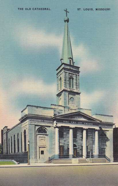 The Old Cathedral - St Louis, Missouri - Linen Card