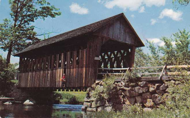 Covered Bridge over the Blackwater River, New Hampshire