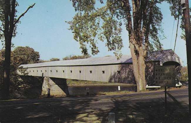 Covered Bridge Cornish, New Hampshire to Windsor, Vermont