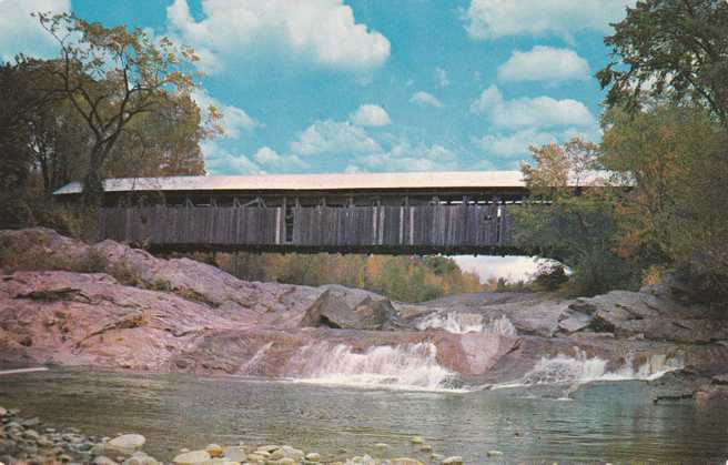 Covered Bridge at Swiftwater, New Hampshire - crossing the Wild Ammonoosuc River