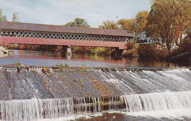 Covered Bridge - Ashuelot River - West Swanzey, New Hampshire