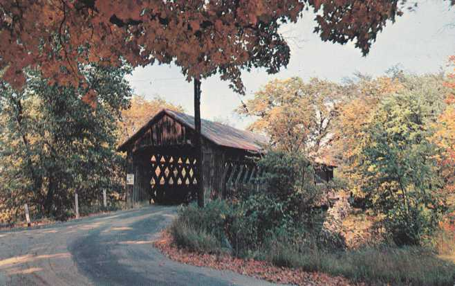 Winchester, New Hampshire - Covered Bridge on Ashelot River