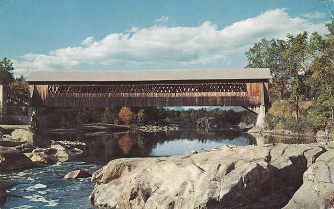 Lattice Covered Bridge at Woodstock, New Hampshire - pm 1962