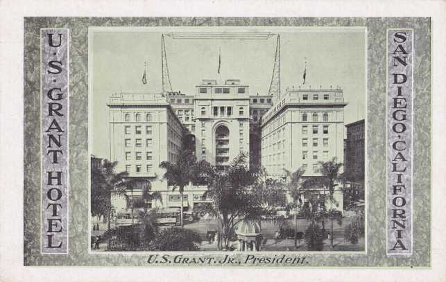 U. S. Grant Hotel - San Diego, California - White Border