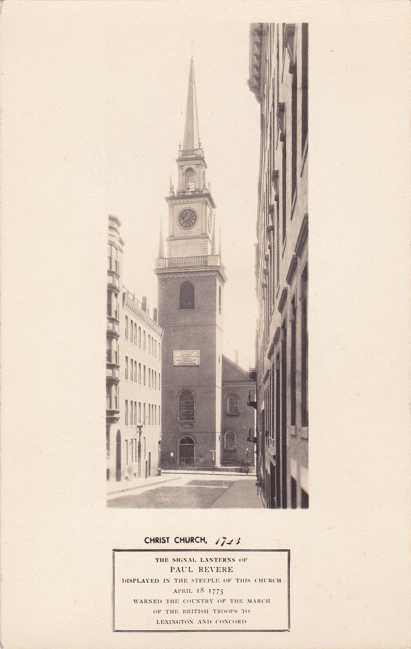 RPPC Christ Church - Boston, Massachusetts - Paul Revere - Real Photo