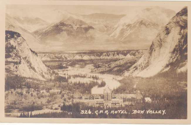 RPPC CPR Hotel - Bow Valley, Alberta, Canada - Real Photo - Byron Harmon