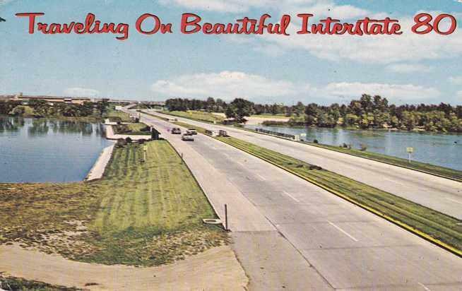 Traveling on Beautiful Interstate Route 80 - Roadside