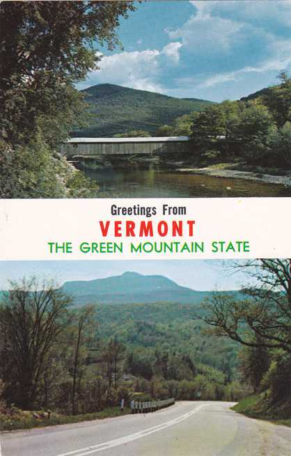 Greetings from Vermont - Green Mountain State - Old Scott Covered Bridge