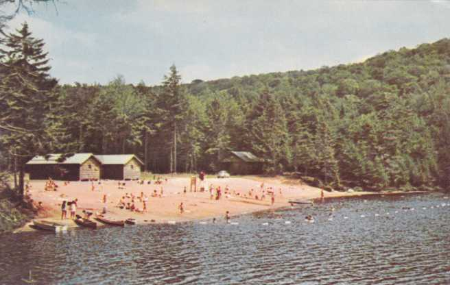 Campsite on Nicks Lake - Old Forge, Adirondack Mountains, New York