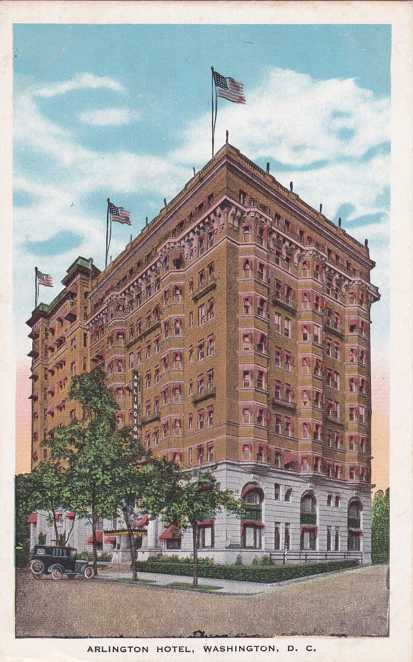 Arlington Hotel, Washington, DC - FDC US#1896 - pm 1981 - White Border