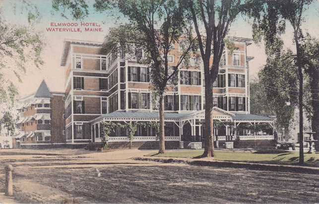 Elwood Hotel - Waterville, Maine - pm 1911 at Bowdoinham - Divided Back
