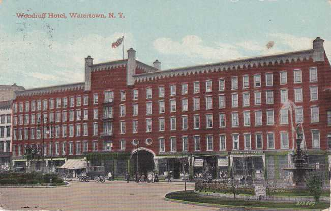 Woodruff Hotel - Watertown, New York - pm 1911 at Chaumont - Divided Back