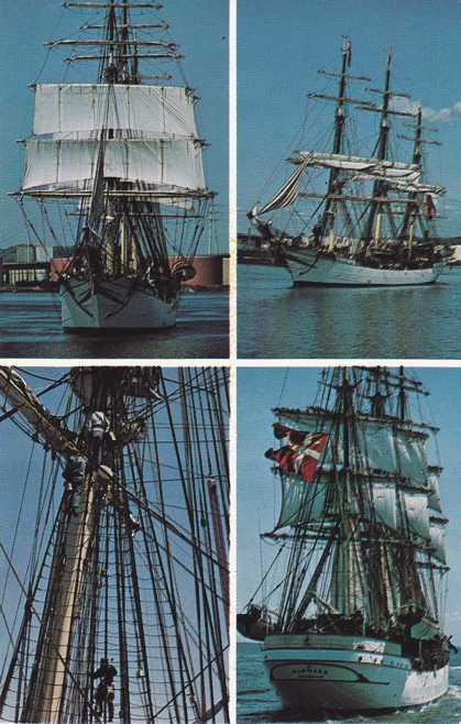 Danmark of Copenhagen, Denmark - Tall Ship at New Haven, Connecticut