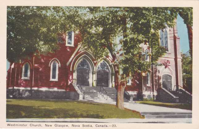 Westminster Church - New Glasgow, Nova Scotia, Canada - White Border
