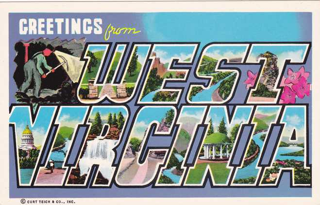 Greetings From West Virginia - Chrome Large Letter