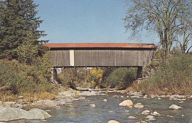 Jeffersonville, Vermont - Scott Covered Bridge - pm 1965 at Stowe