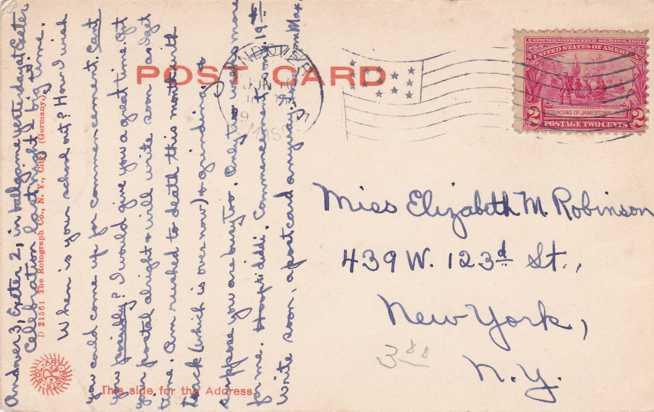Phillips Inn Hotel - Andover, Massachusetts - pm 1907 - Undivided Back