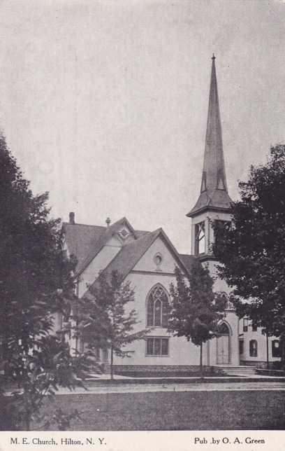 Methodist Episcopal Church - Hilton, New York - Divided Back