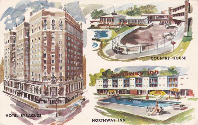 Syracuse, New York - Hotel Syracuse - Northway Inn - Country House - pm 1969
