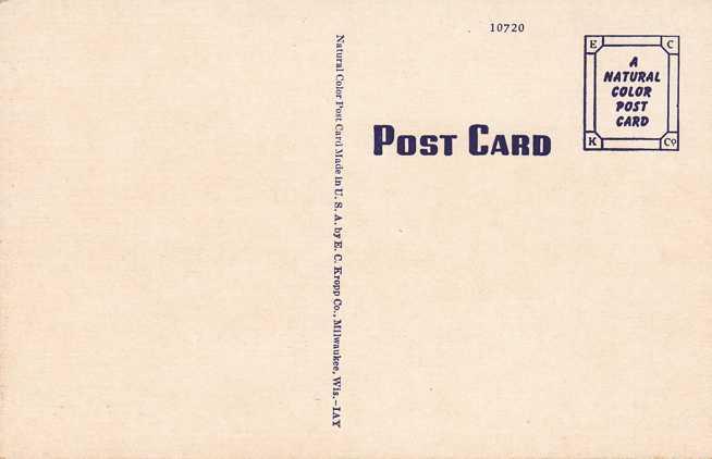 A Texas Buffalo Ranch - Linen Card