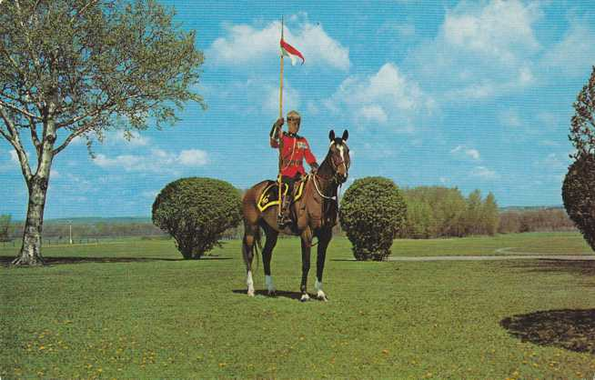 RCMP - Royal Canadian Mounted Police on Horse - pm 1968