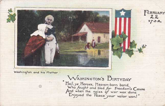 Washington's Brithday with His Mother - Divided Back