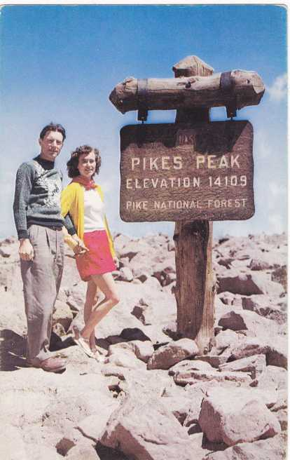 Pikes Peak Summit - Elevation 14109 Feet - Colorado