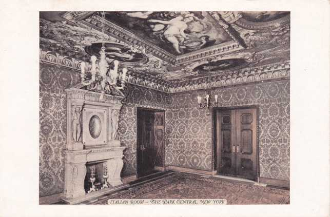 Italian Room - Park Central Hotel - New York City - White Border