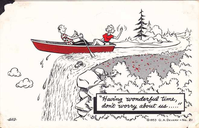 Having a Wonderful Time - Don't Worry about Us - pm 1962 - Humor