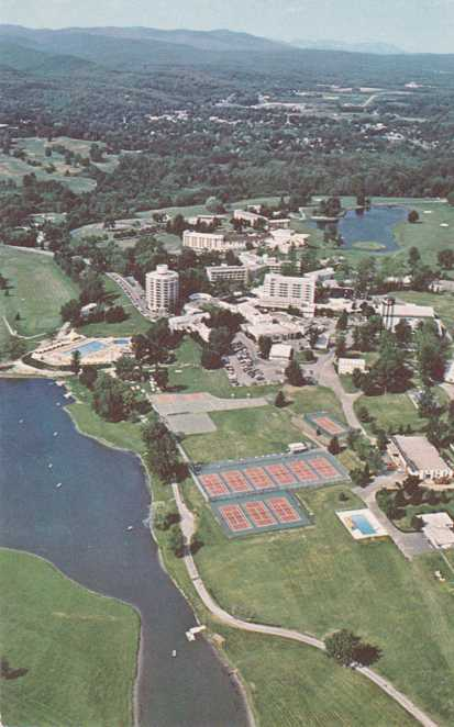 Aerial View of the Nevele Country Club - Ellenville, New York