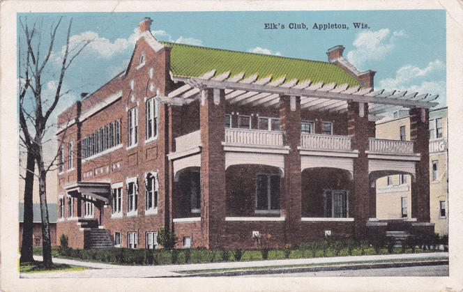 Elk's Club - Appleton, Wisconsin - pm 1919 - White Border