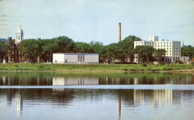 Art Gallery at St John River - Fredericton, New Brunswick, Canada - pm 1966